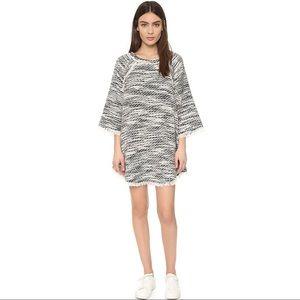 IRO Emany Black And White Woven Dress